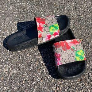 Gucci GG Blooms Supreme Floral Slide Sandal